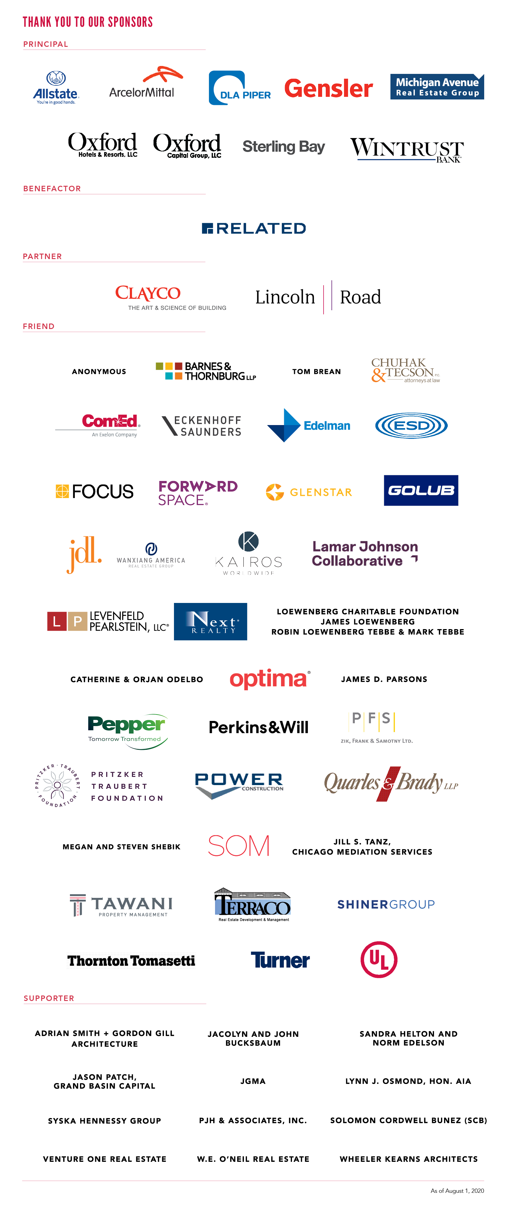 Thank you to our 2020 gala sponsors